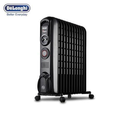 DeLonghi德龍 V551220T 家用急速暖流系列12片電熱油汀取暖器