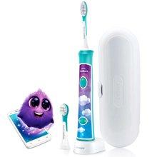 飞利浦(PHILIPS)宝宝儿童声波电动牙刷 让宝宝爱上刷牙 HX6322/29旅行蓝牙版