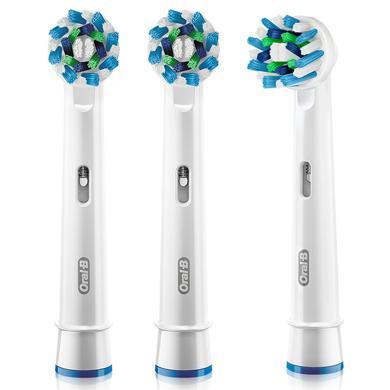 博朗(BRAUN)歐樂B  電動牙刷頭 3支裝 多角度清潔型 適配成人2D3D全部型號 EB50-3