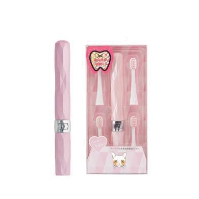 ?#23616;?#25345;购物卡】日本 ACS猫咪电动牙刷 软毛成人儿童通用纳米超声波便携式防水干电池自动牙刷 (带5个刷头)#多色可选