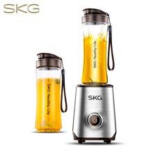 SKG 便携式榨汁机家用料理机多功能 辅食搅拌机 迷你果汁机 1818 咖啡色