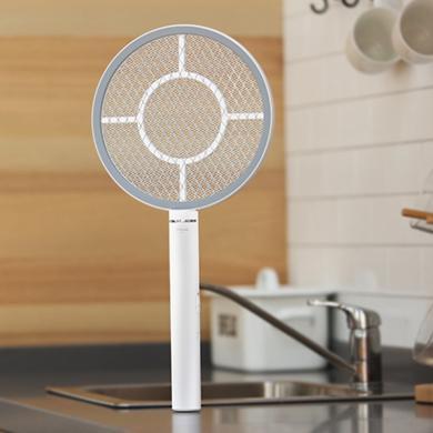雅格 電蚊拍家用滅蚊拍usb充電式蚊蒼蠅拍 觸控感應D005