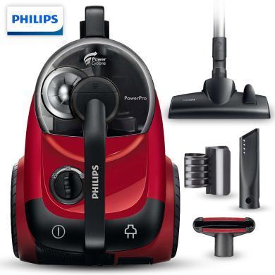 飛利浦(PHILIPS)吸塵器家用大功率小型除螨無塵袋吸塵機 3個吸嘴-1800W FC8760/81
