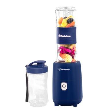 美国西屋(Westinghouse)便携式榨汁机家用 多功能奶昔水果汁机 双杯 WSX-S21