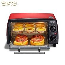 SKG 电烤箱12L家用多功能迷你烘培面包蛋糕小烤箱KX1701