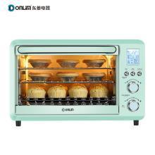 東菱(Donlim)DL-K30A 30升/L 家用多功能電烤箱 電子式智能菜單 低溫發酵 爐燈 旋轉烤叉 綠色