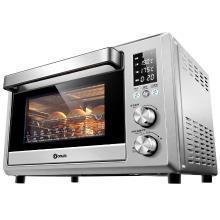 東菱(Donlim)DL-K40C 38L/升 家用多功能電烤箱 電子式智能菜單 平板隱藏發熱管 搪瓷內膽 雙層玻璃門