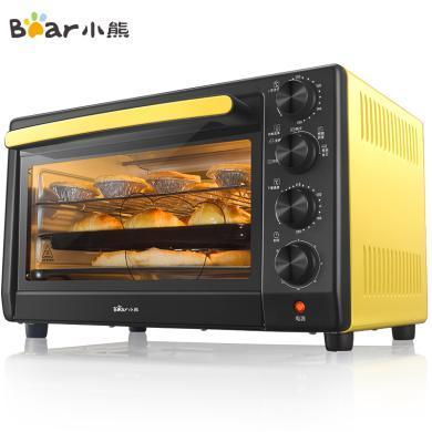 小熊(Bear)電烤箱 家用烤爐箱 烘焙蛋糕多功能獨立控溫 32L旋轉烤叉燒烤DKX-C32U5
