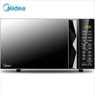 美的(Midea)M3-L233B銀色 多功能微波爐 光波燒烤電烤箱一體機 智能濕度感應 大平板均勻加熱 20升 XW