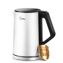 美的(Midea)电水壶1.5L 304不锈钢电热水壶 双层防烫保温烧水壶 HJ1508a