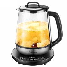 美的(midea)GE1706a养生壶多功能加厚1.7升电玻璃煎药壶煮茶水壶