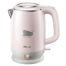 小熊(Bear)ZDH-A15L5烧水壶电热家用自动断电保温一体壶器不锈钢 浅粉色