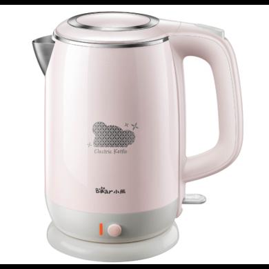 小熊(Bear)ZDH-A15L5燒水壺電熱家用自動斷電保溫一體壺器不銹鋼 淺粉色