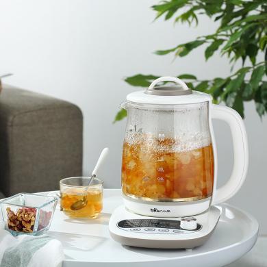 小熊(Bear) 養生壺煮茶壺花茶壺煎藥壺全自動家用玻璃一體1.8升電熱水壺保溫 YSH-B18P1