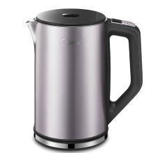 美的(Midea)电热水壶HE1504a 304不锈钢除氯双钢防烫烧水壶 家用1.5L
