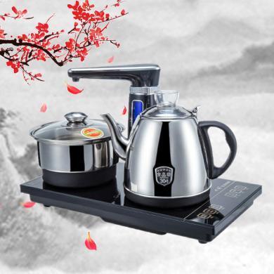 心好電熱水壺XH-QZD-H1全自動上水電熱壺304不銹鋼茶具電茶爐   1.0L/1350W 黑色
