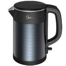 美的(Midea)电水壶1.5L电热水壶双层防烫家用烧水壶HJ1511a食品接触304不锈钢一体无缝
