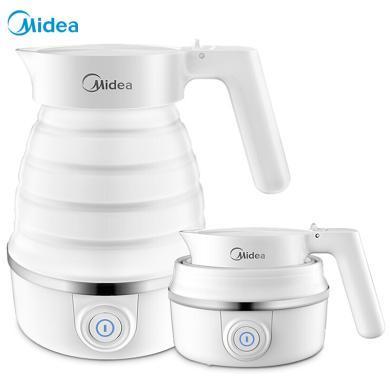 美的(Midea)電水壺 食品級硅膠 折疊水壺 燒水壺 電熱水壺 旅行攜帶 智能防干燒 SH06Simple101