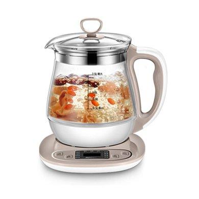 九陽(Joyoung)養生壺玻璃材質家用多功能預約K15-D65花茶熱水壺1.5L