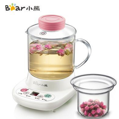 小熊(Bear)迷你養生壺自動加厚玻璃電熱杯煮花茶壺 玻璃濾網 YSH-A03C5 0.4L