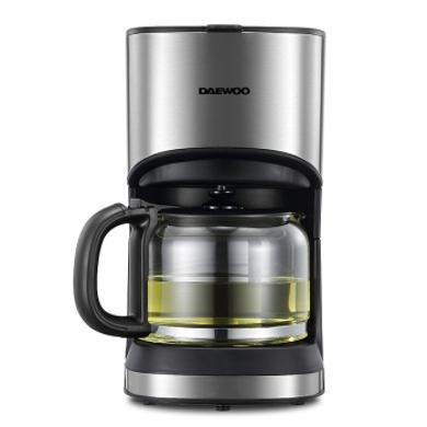 韓國大宇咖啡機C10家用美式全自動滴漏式咖啡壺養生壺泡茶機多功能茶飲機 銀色