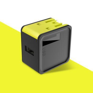 洛克ROCK單口旅行充電器頭PD快充 萬能USB插頭通用 黑色