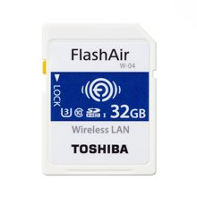 东芝(TOSHIBA) 32G FlashAir 第四代无线局域网嵌入式 SDHC存储卡U3 Class10
