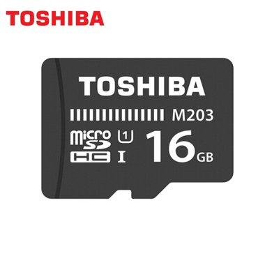 東芝(TOSHIBA)16G 讀速100MB/s TF(microSD)存儲卡 UHS-I Class10 高速存儲卡