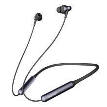 万魔(1MORE)Stylish 蓝牙耳机 无线耳机入耳式 苹果安卓适用 运动防水 双动圈颈挂式 E1024BT 黑色