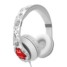 萌奇 魔鬼猫音魔有线耳机头戴式音乐耳麦重低音带话筒电脑苹果华为手机通用