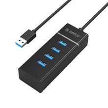 奥睿科(ORICO)W6PH4 USB3.0高速桌面扩展4口HUB集线器 台式机笔记本电脑一拖四USB分线器
