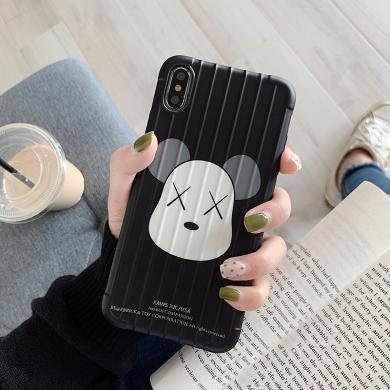CIAXY卡通潮牌暴力熊iPhonexs max手机壳适用苹果7/8plus/XR防摔情侣套