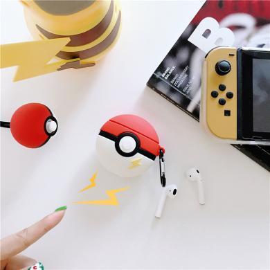 創意可愛卡通精靈球適用airpods保護套蘋果2代藍牙無線耳機套硅膠