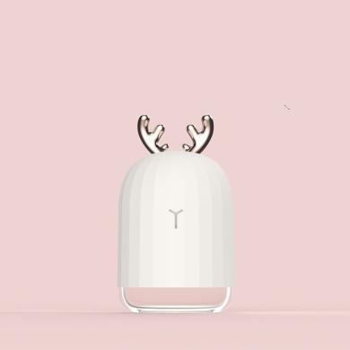 萌鹿萌兔子迷你USB加濕器小夜燈辦公室桌面創意