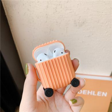 ins創意行李箱Airpods保護套硅膠適用蘋果藍牙耳機包充電盒防摔軟