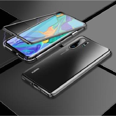 CIAXY华为P30Pro手机壳创意金属玻璃壳mate20双面万磁王边Nova5保护套