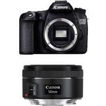 佳能(Canon) EOS 70D 单反套机 (EF 50mm f/1.8 STM 镜头)