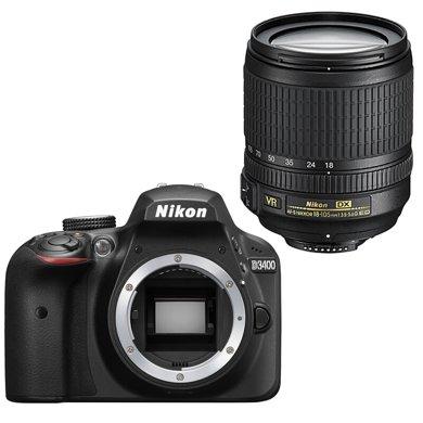 尼康(Nikon) D3400 相機 單反相機 單反套機(AF-S DX 尼克爾 18-105mm f/3.5-5.6G ED VR)