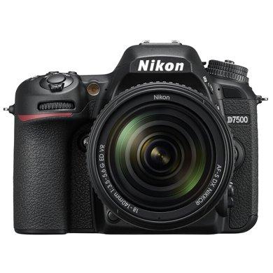 尼康(Nikon)D7500單反套機(AF-S 18-140mmf/3.5-5.6G ED VR 鏡頭)黑色
