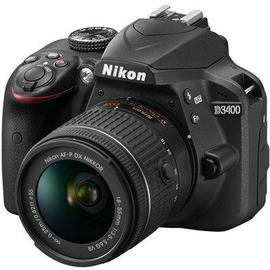 尼康(Nikon) D3400 入門單反相機(AF-P DX 尼克爾 18-55mm f/3.5-5.6G VR防抖鏡頭 )