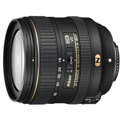 尼康 Nikon AF-S DX 尼克尔 16-80mm f/2.8-4E ED VR 镜头 相机 单反相机镜头