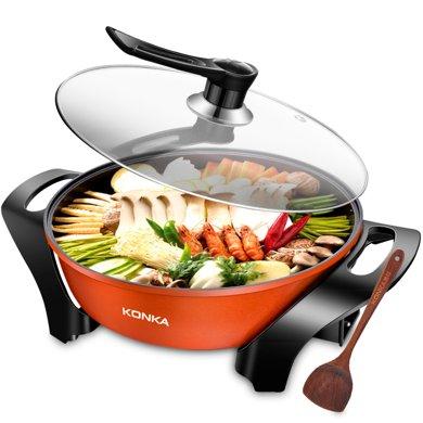 康佳KEP-5L電火鍋家用多功能火鍋鍋家用鍋電熱鍋電煮炒鍋新品