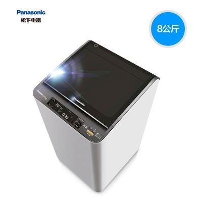 Panasonic/?#19978;??#19978;?#27927;衣机XQB80-X8155波轮全自动羽绒服洗衣机变频大容?#28900;?#38899;
