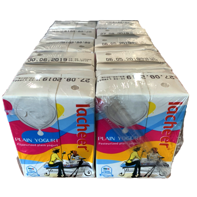 奧地利原裝進口酸奶蘭雀Lacheer 原味常溫酸奶 200g*10盒家庭裝