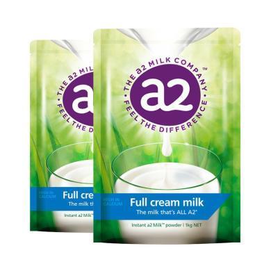 【支持購物卡】【2袋裝】澳洲A2 Platinum成人全脂奶粉 進口奶粉 1kg/袋*2 (澳洲直郵)(新舊隨機)