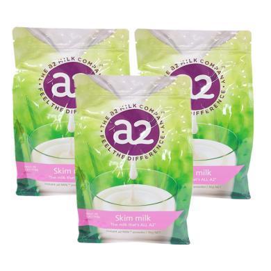 【支持購物卡】【3袋裝】A2高鈣脫脂高鈣成人奶粉 進口奶粉 1kg*3袋(澳洲直郵)