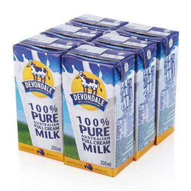 德运全脂纯牛奶(200ml*6)