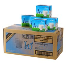 爱维雅IVY 泰国进口酸奶饮品原味180ml*16盒 泰国版益力多养乐多风味酸乳酪 牛奶成人儿童均可饮用