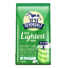 澳大利亚进口奶粉德运(Devondale)调制成人奶粉(脱脂)1kg学生奶粉成人奶粉