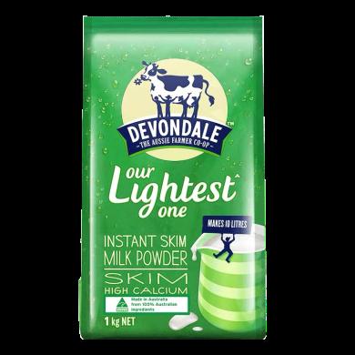 澳大利亞進口奶粉德運(Devondale)調制成人奶粉(脫脂)1kg學生奶粉成人奶粉